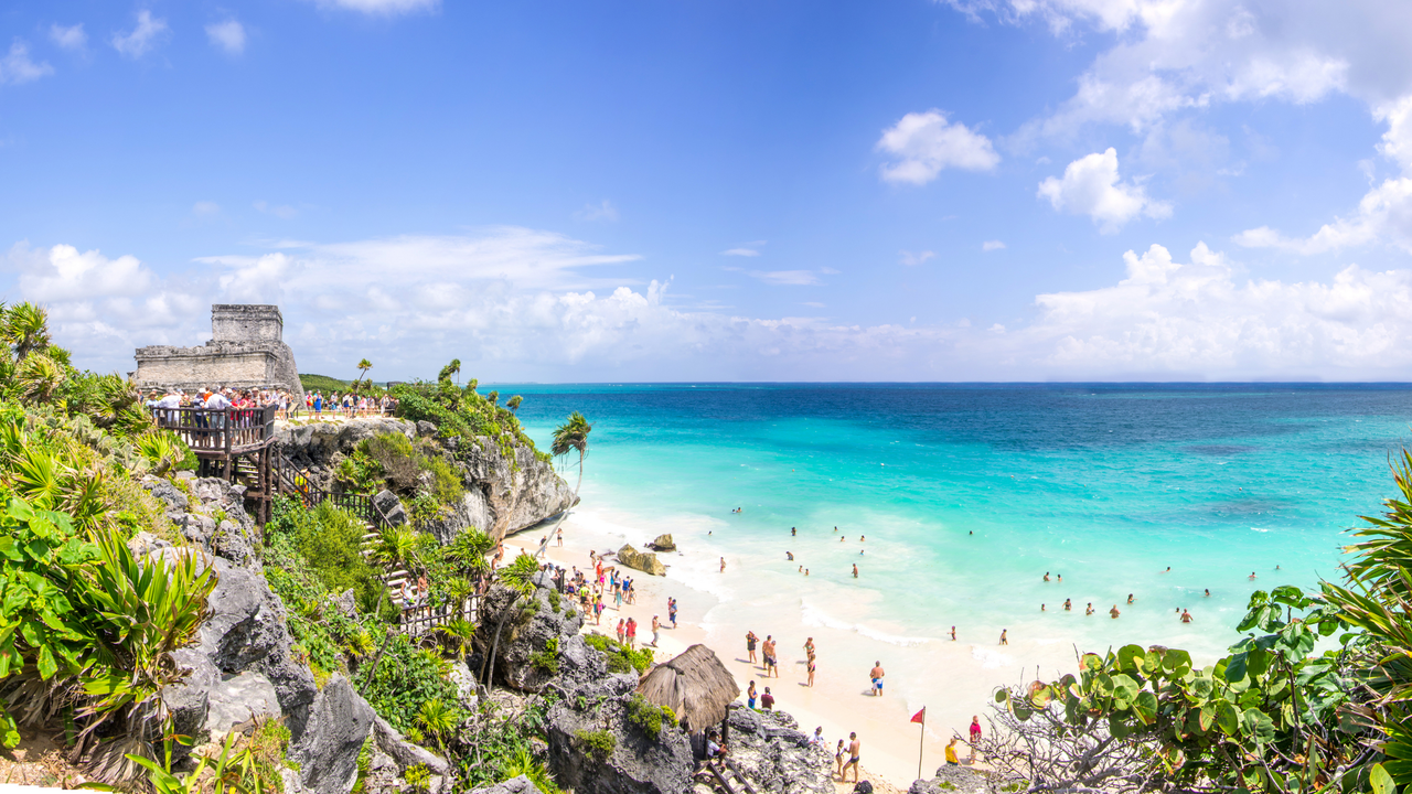 View of Tulum in Mexico