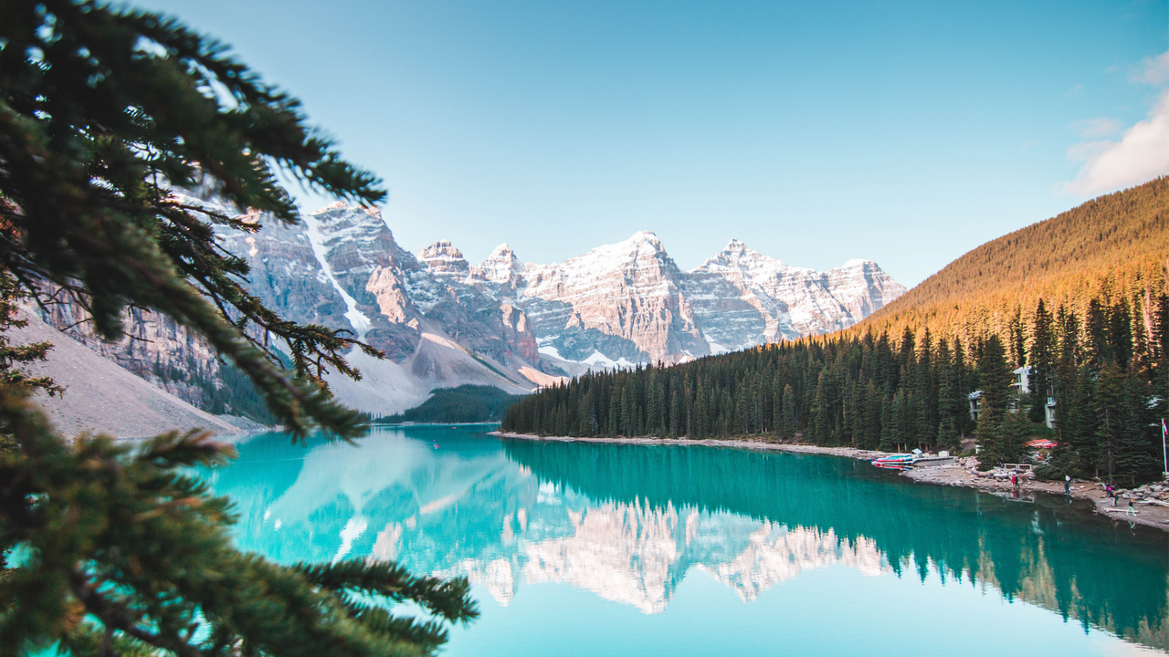 Lake and mountain views in Banff, Canada