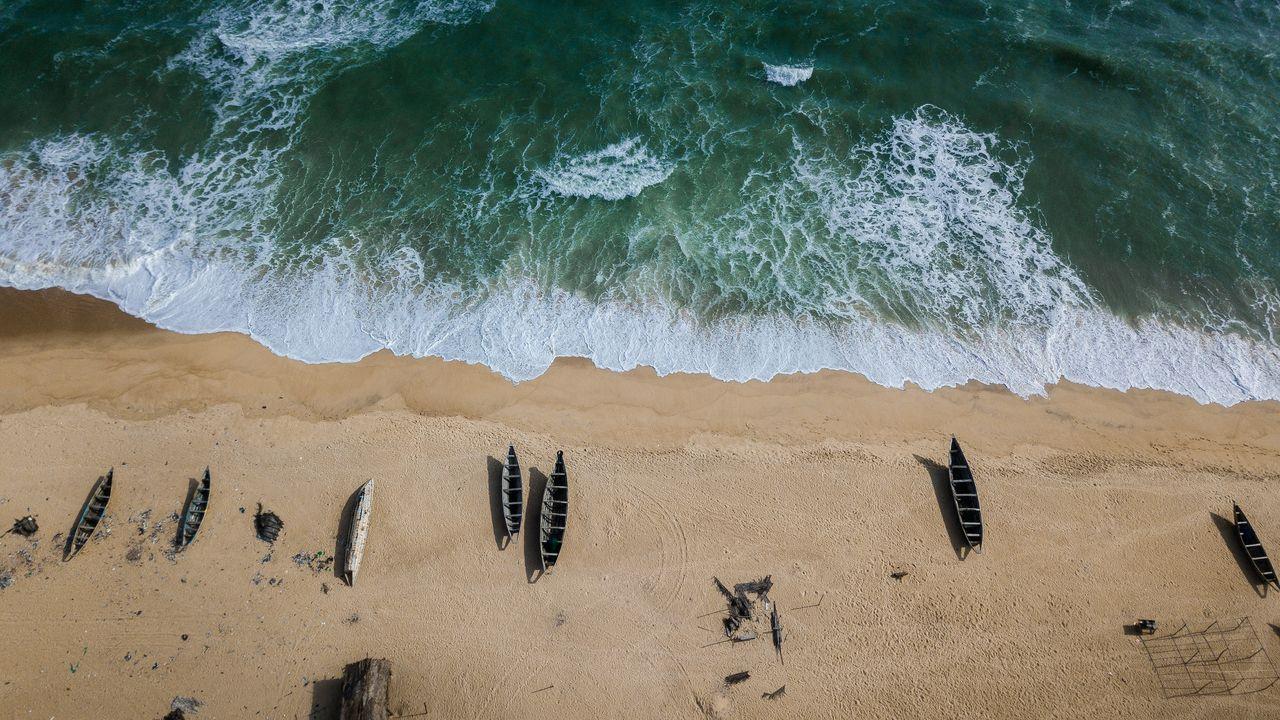 An aerial view of Ibeshe beach, Nigeria