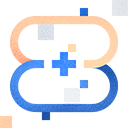 Loop icon with cross