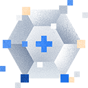Gem icon with cross