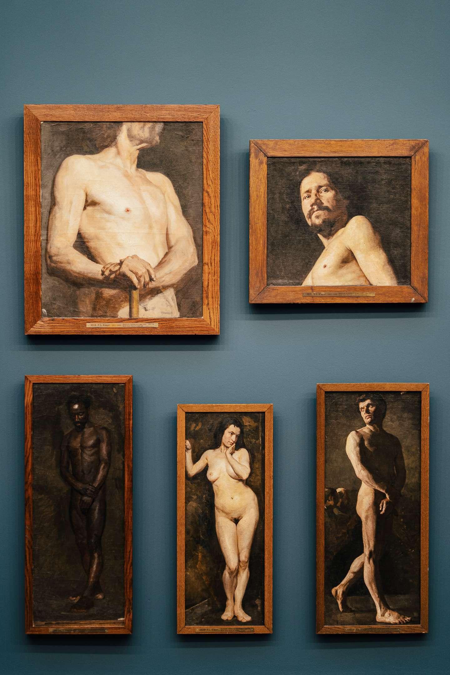 Pieces of art at the Hirschsprung Collection
