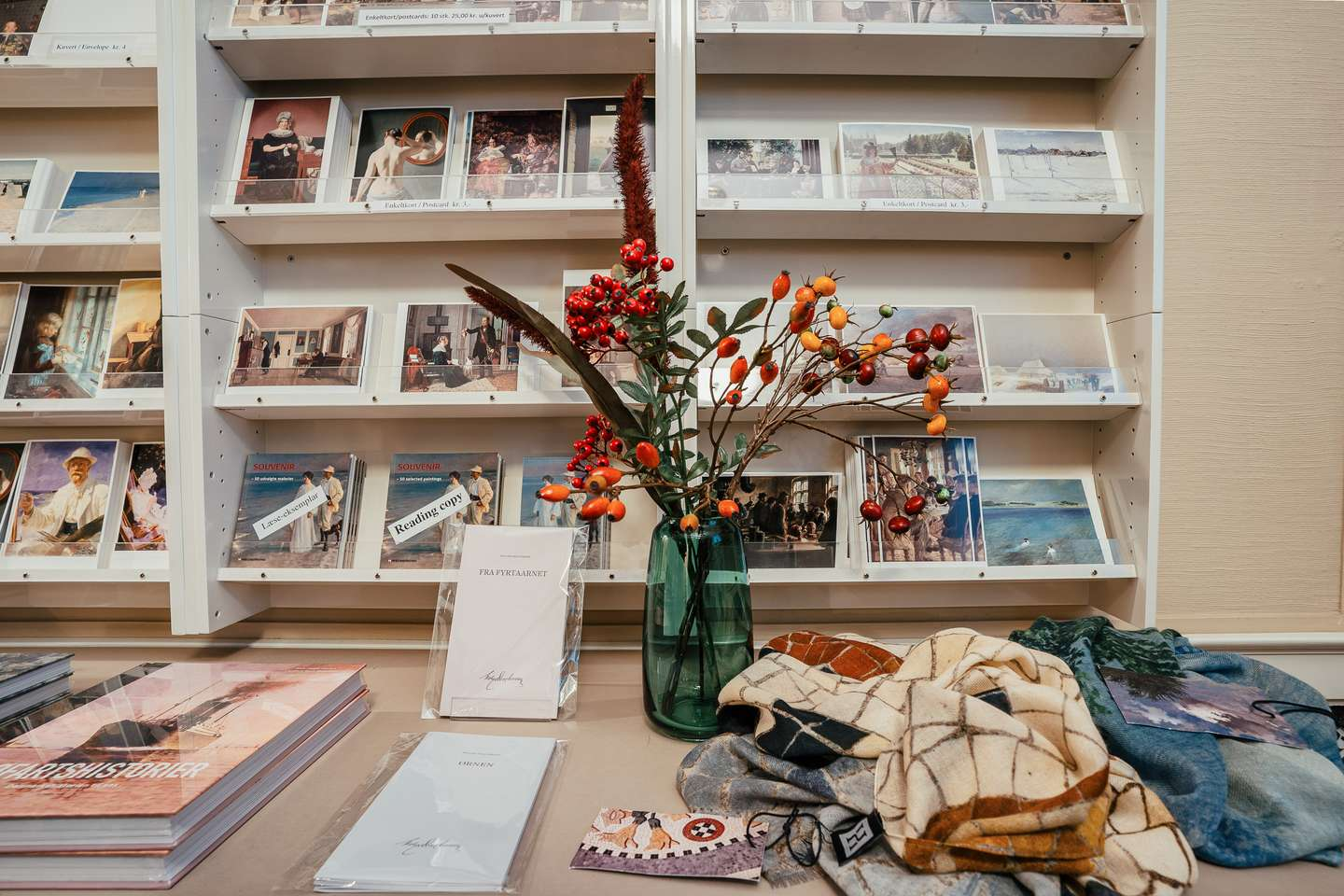 The museum gift shop has a great variety of books, posters, postcards and other stuff
