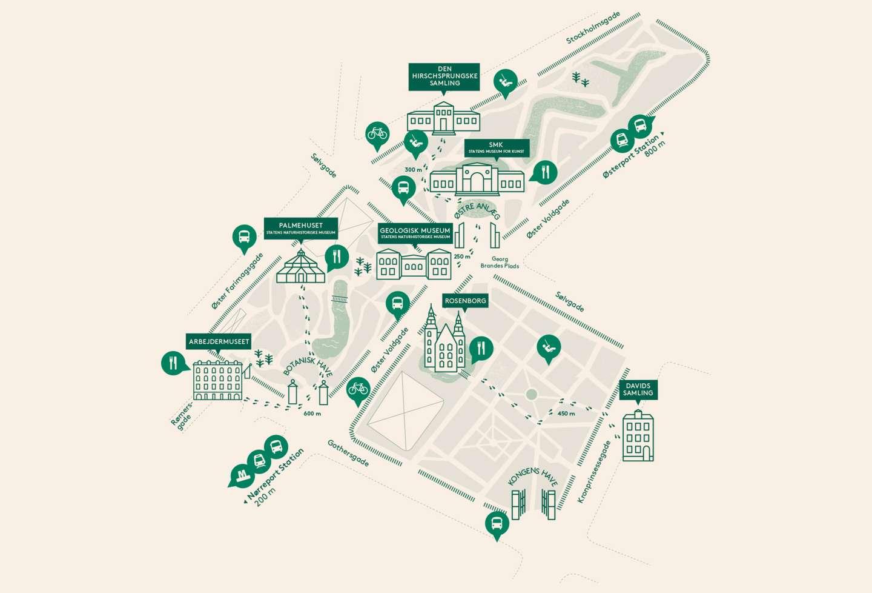 Kort over Parkmuseerne