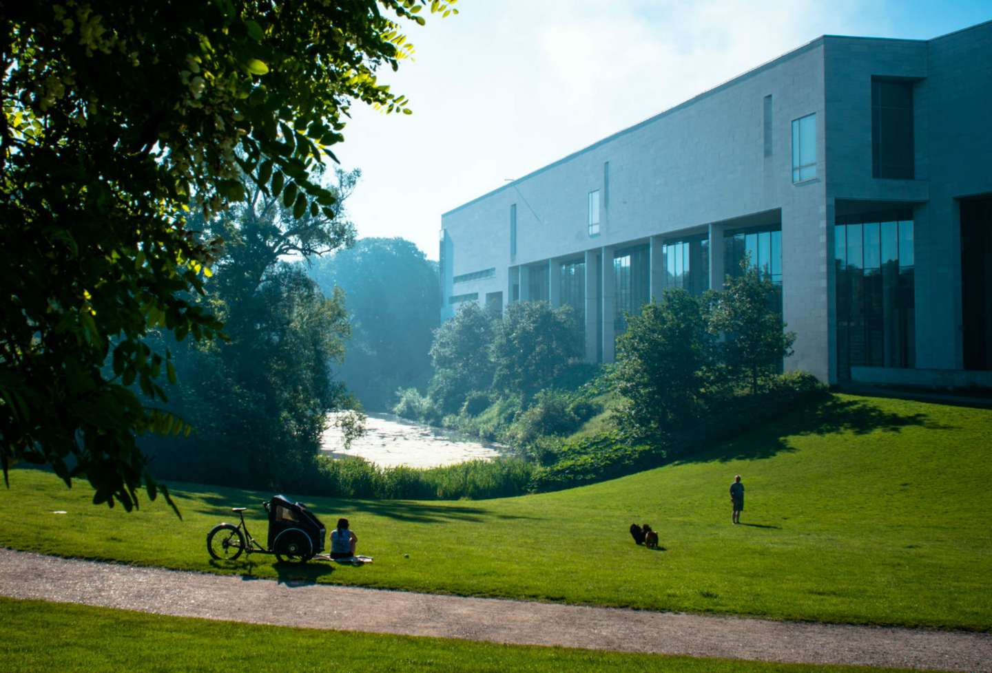 The Østre Anlæg park with a view upon the National Gallery of Denmark