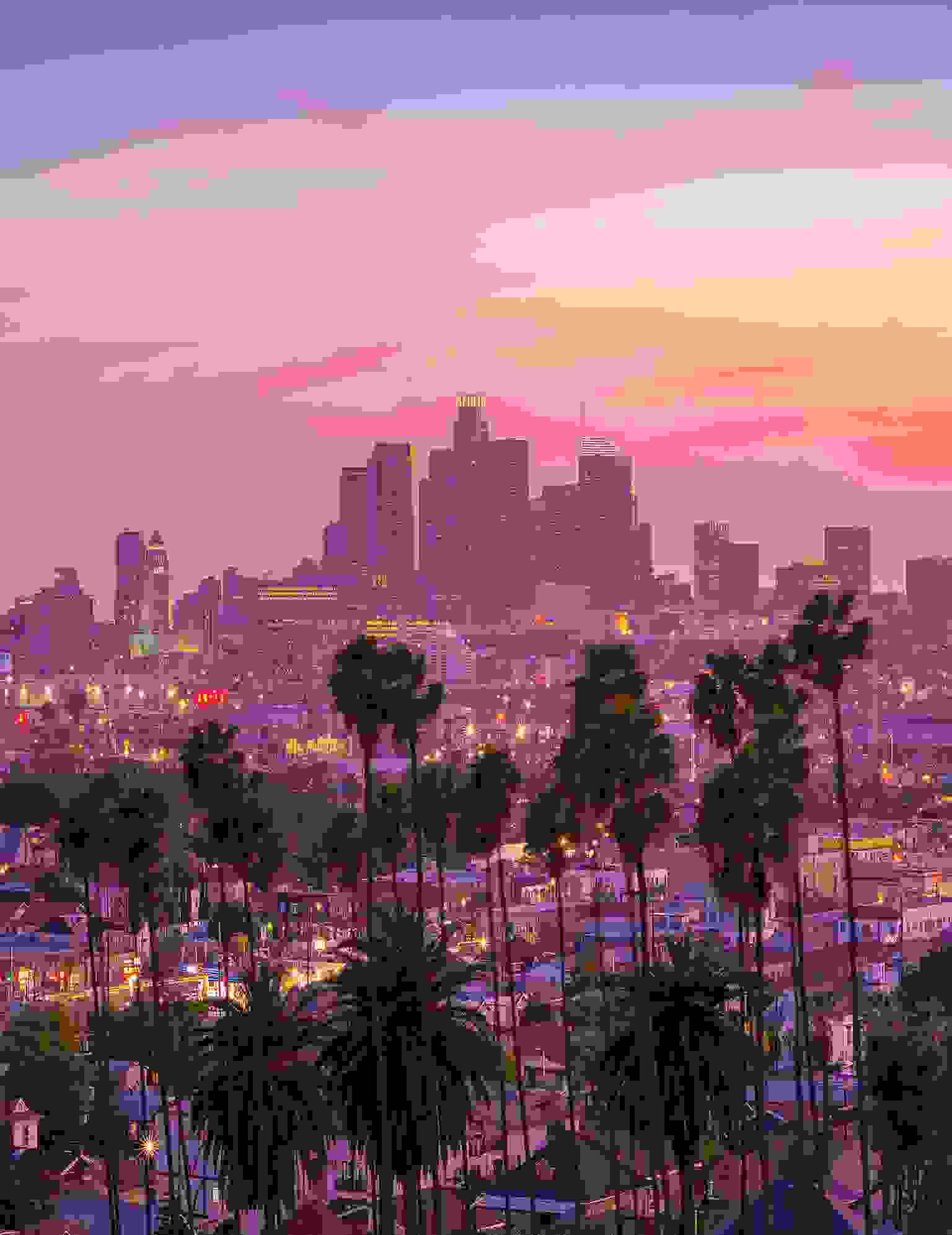 Sunset at Los Angeles, United States