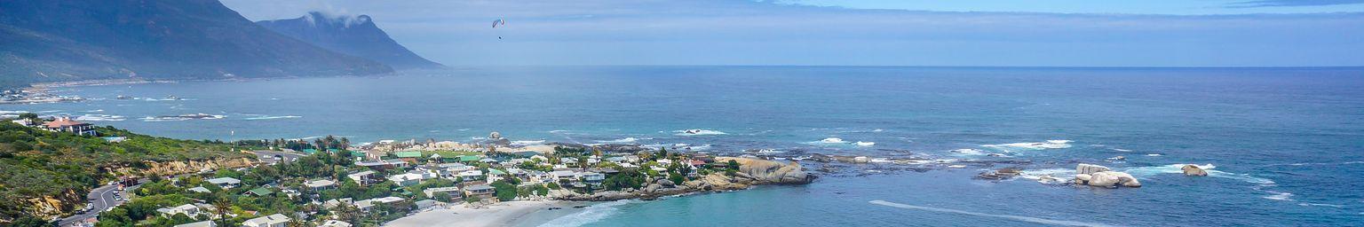 Overlooking beautiful Clifton Beach