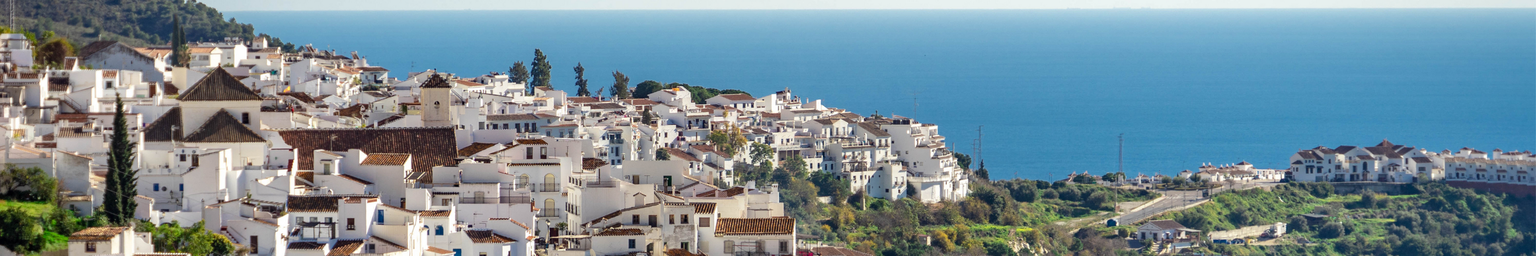 Frigiliana, a white Andalusia Village with view of the Costa del Sol Spain