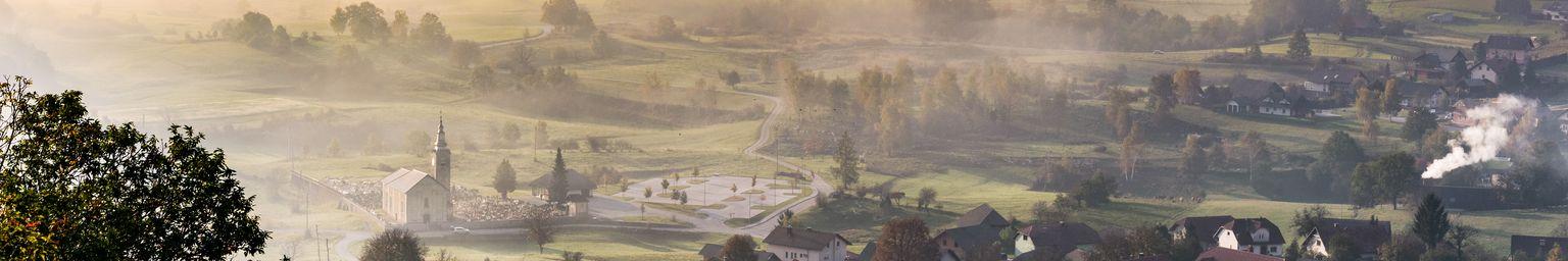 A misty morning in Bela Krajina