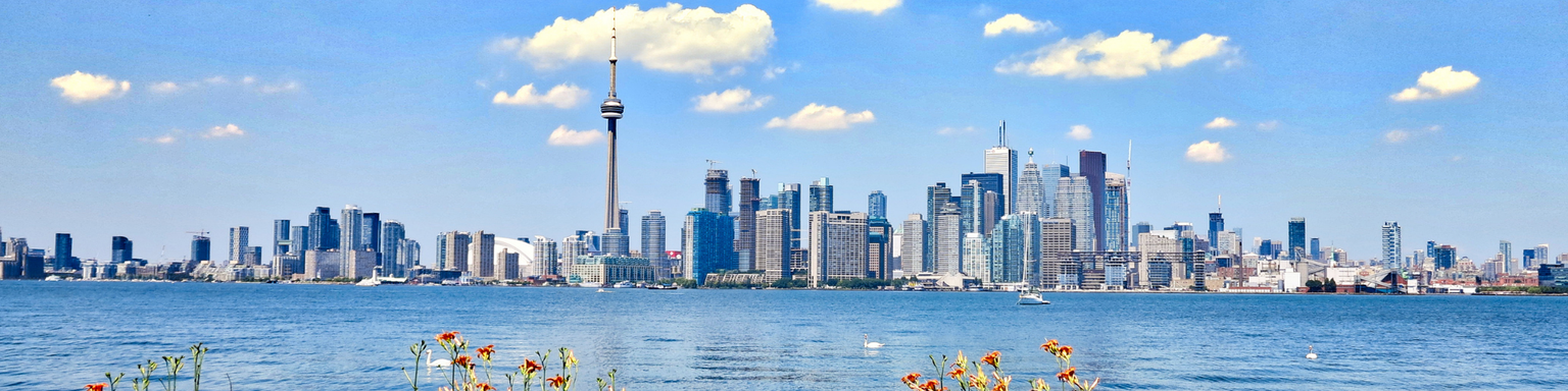 Toronto skyline on a sunny day