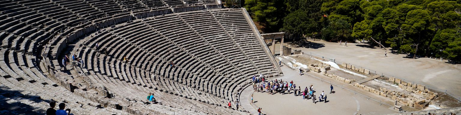 The Theatre of Epidaurus, an example of perfect proportions and accoustics