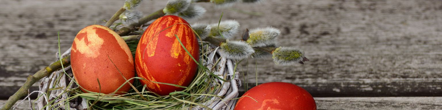 Dying eggs red is a Greek Easter tradition