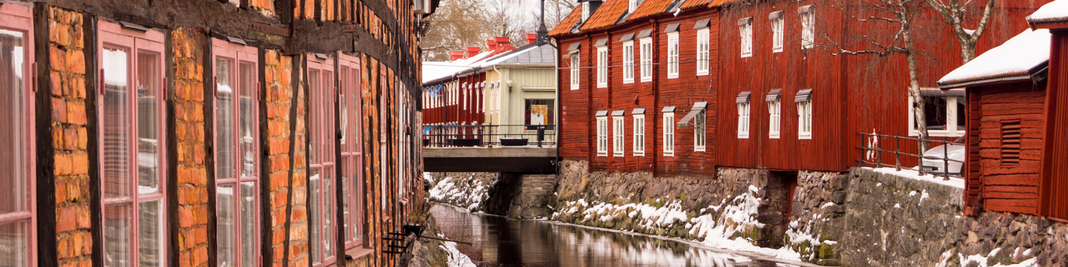 Vasteras old town in winter