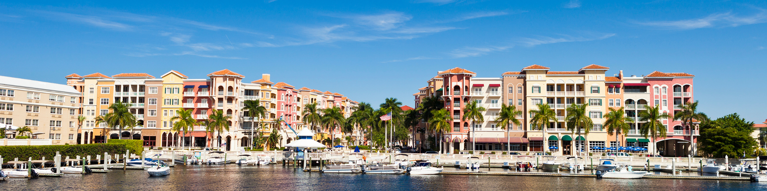 Colourful buildings in Naples, Florida