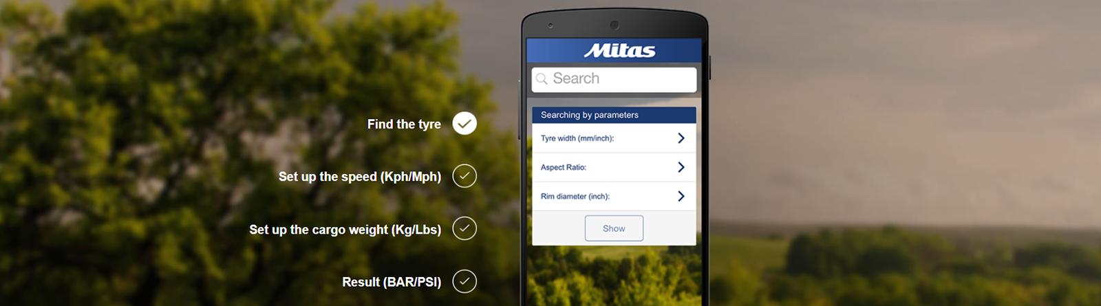 Mitas Tyre Pressure Mobile App