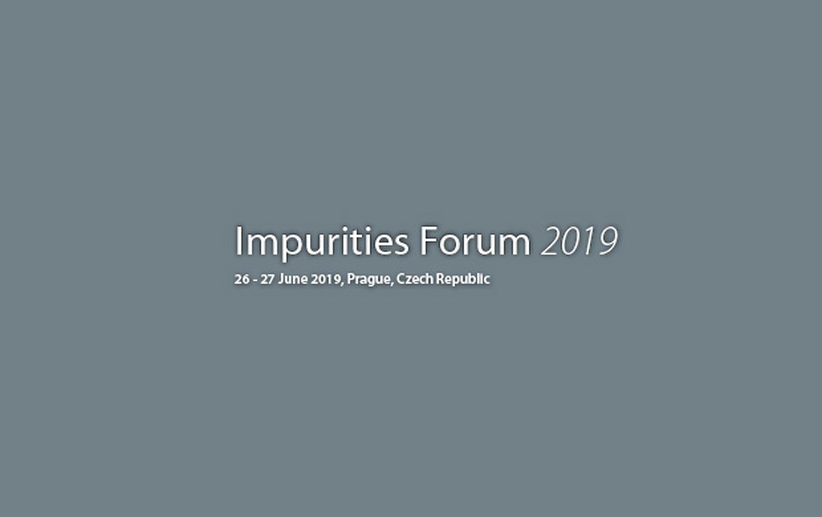 Dr. Xaver Schratt from GBA Pharma Labs speaking at Impurities Forum 2019.