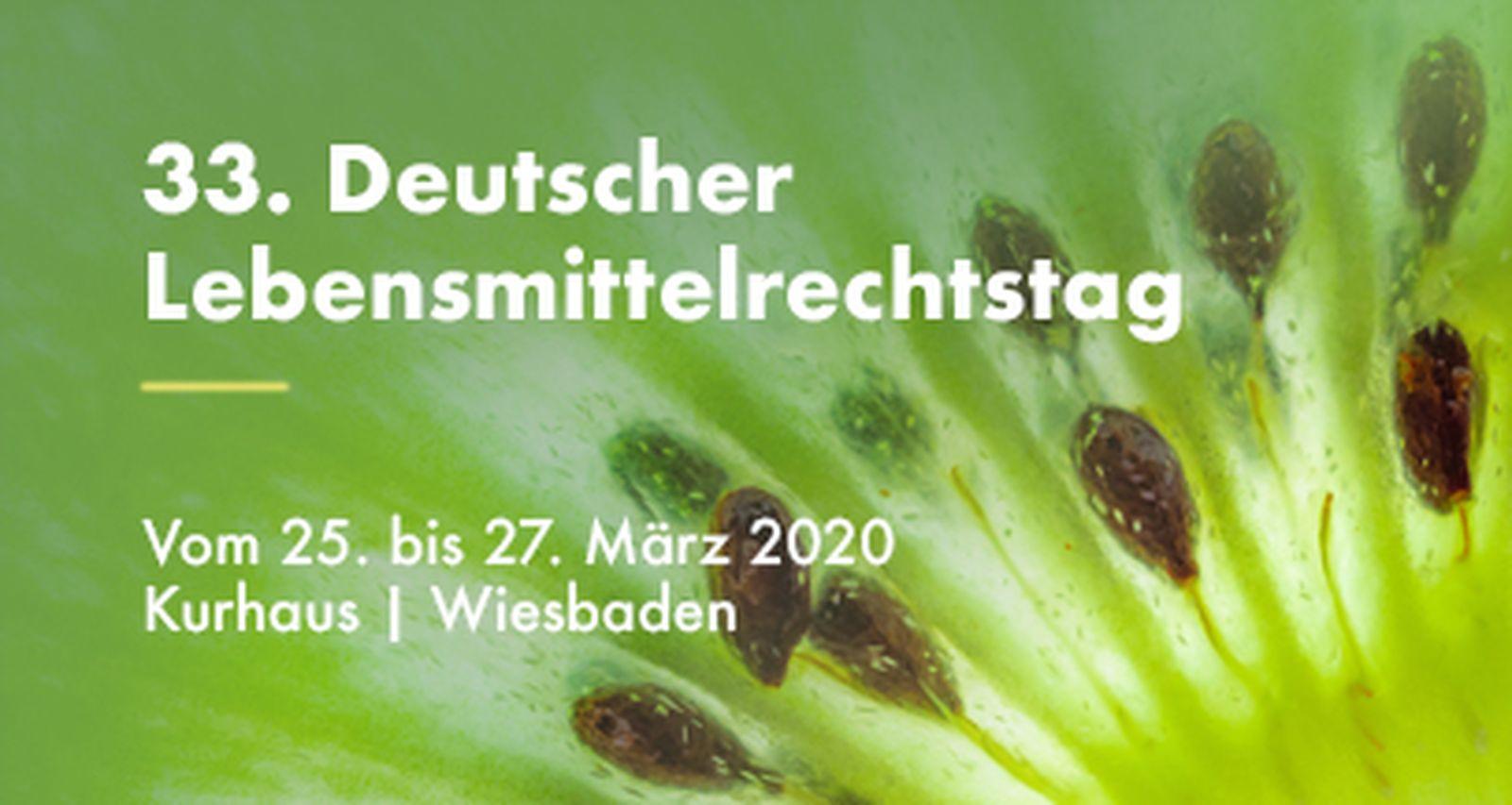 33. Deutscher Lebensmittelrechtstag