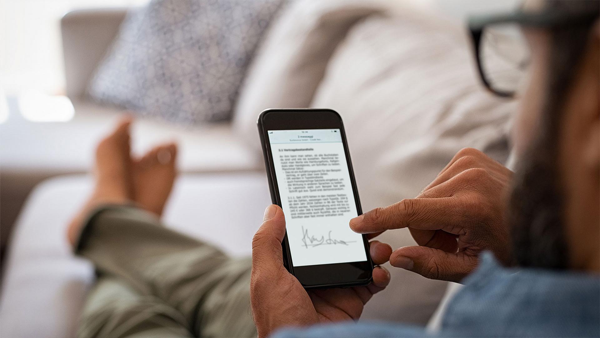 LINK Mobility - websms ermöglicht reibungslose Vertragsunterzeichnung am Smartphone