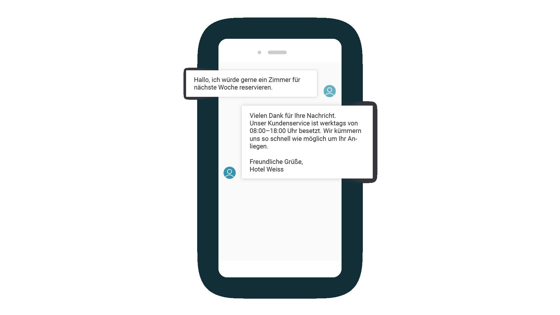 LINK Mobility - Abwesenheitsassistent mittels SMS einrichten