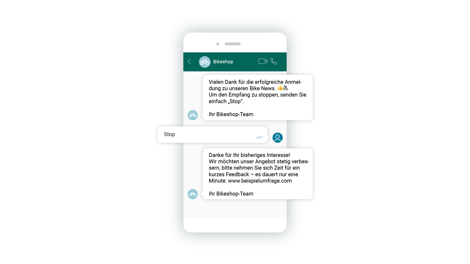 LINK Mobility - automatisierte Verabschiedungen mittels WhatsApp Business einrichten