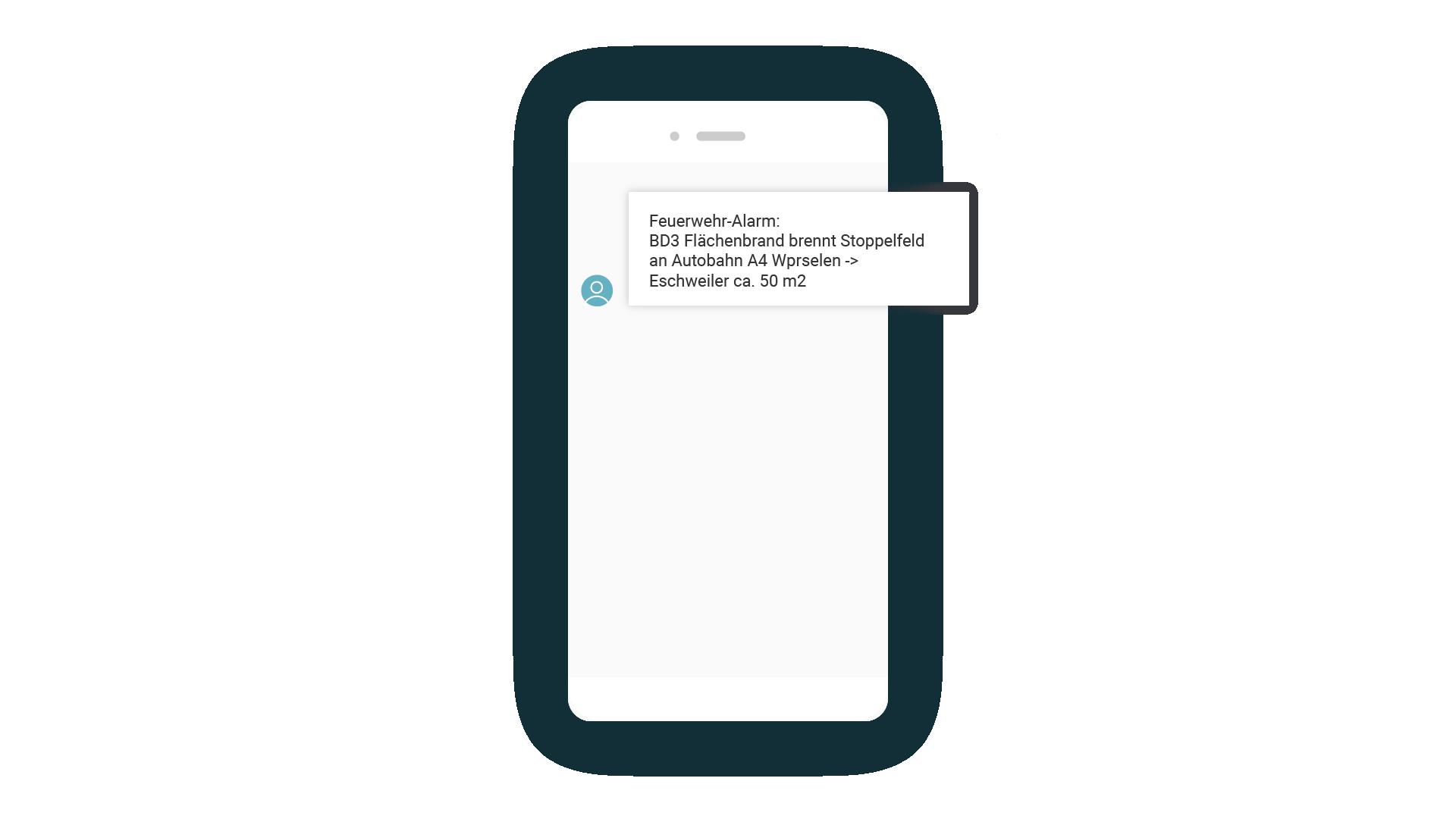 LINK Mobility - SMS von Feuerwehr mit Alarmmeldung