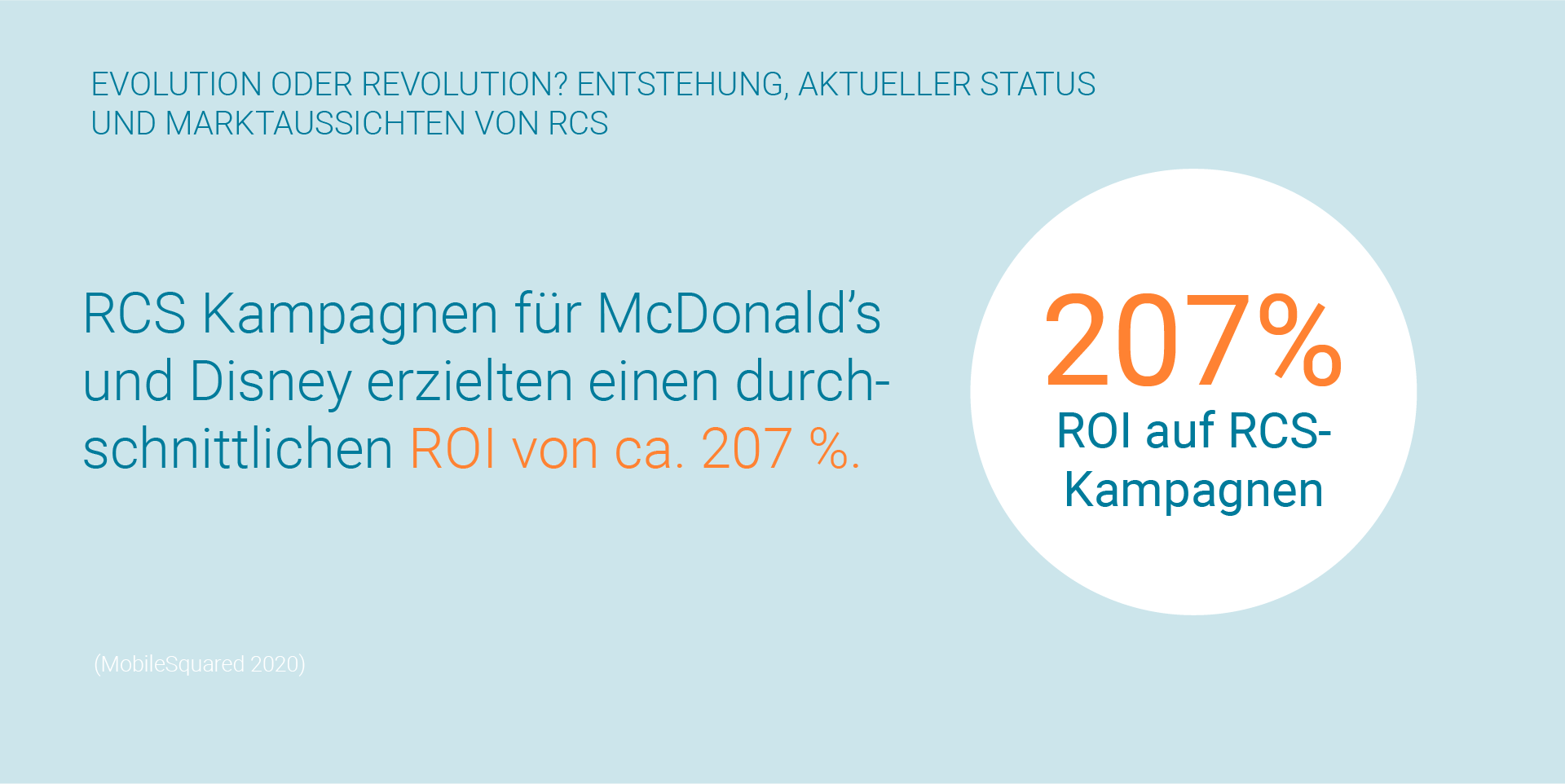 LINK Mobility - RCS 207 % ROI auf RCS-Kampagnen