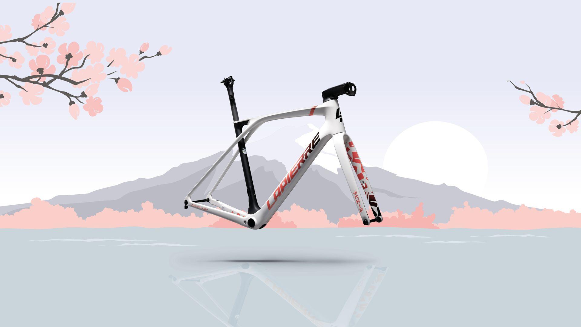 Lapierre Xelius SL3 Sakura for Tokyo Olympics - japanese background