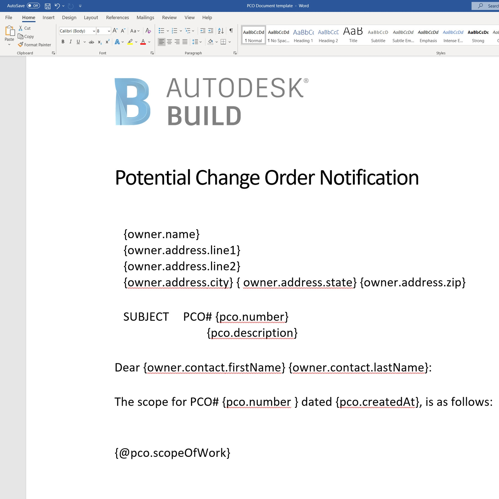 Construction change order documentation in Construction Change Order Tracking Software.