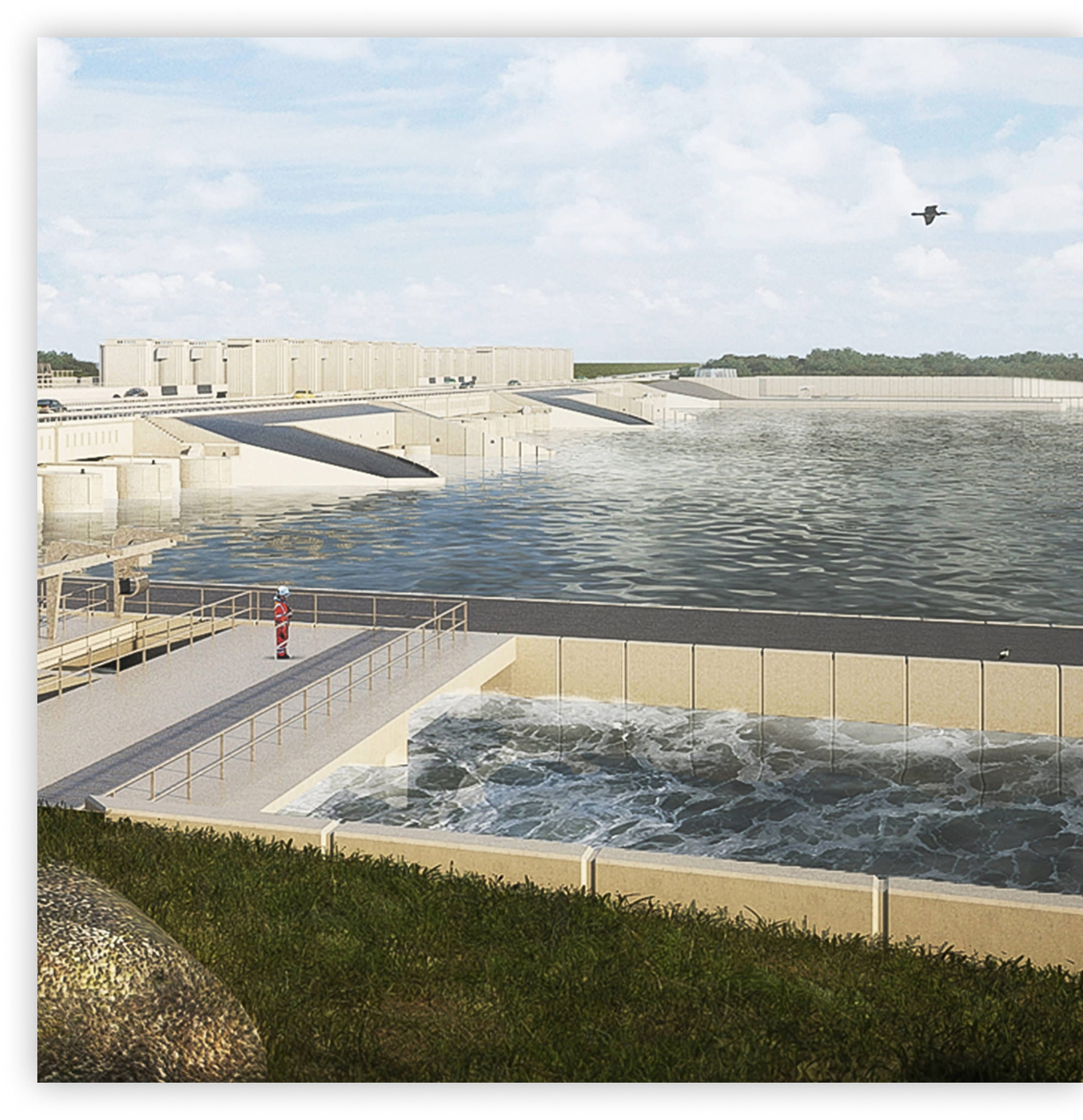 Autodesk used on dams, posts, and waterway construction