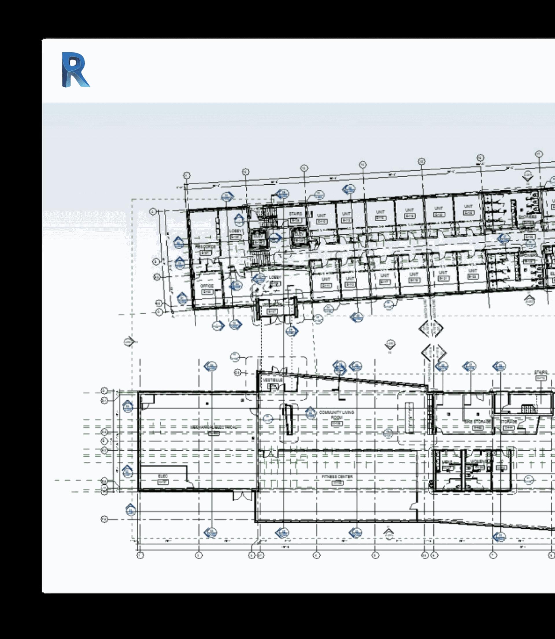 Revit drawing to help create model-based designs.
