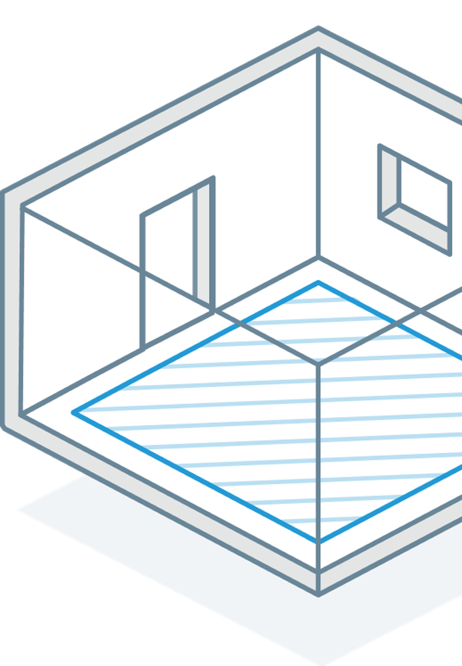 Autodesk Takeoff isometric drawing of construction quantification.