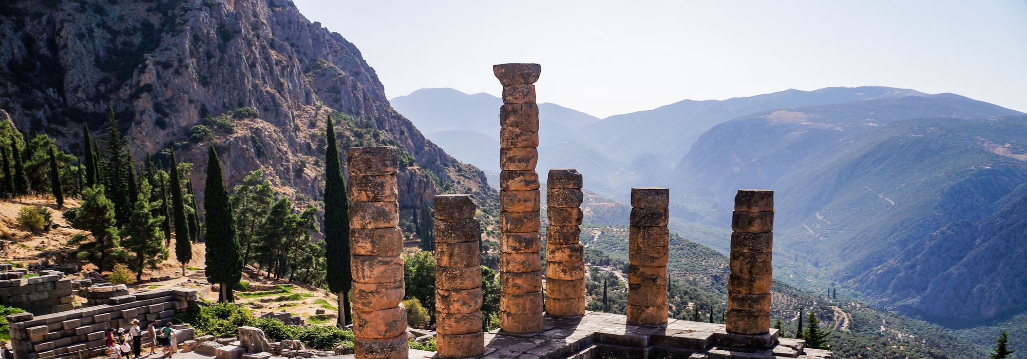 The remains of the Temple of Apollo