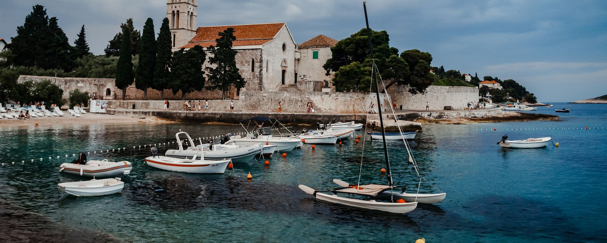 The harbour in Bol, a Dalmatian island
