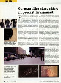 "Berlin ""Walk of Fame"" Project in Concrete Products Magazine"