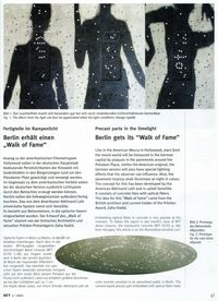 "Berlin ""Walk of Fame"" collaboration with Zaha Hadid featured in BFT German Magazine"