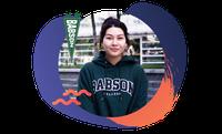 Babson University student Aruzhan