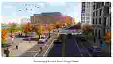 Rendering of the new South Orange Street
