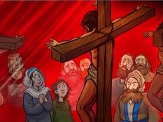 Lijden en sterven van Jezus Bijbelplaten voor het digibord, kleuteridee.nl , Bijbelles voor kleuters.
