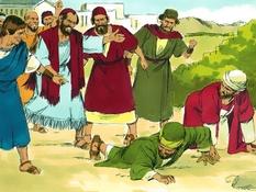 Paulus en Barnabas in Antiochië, 15 Bijbelplaten voor het digibord, kleuteridee.nl , Bijbelles voor kleuters.