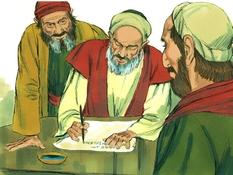 De vergadering in Jeruzalem, 13 Bijbelplaten voor het digibord, kleuteridee.nl , Bijbelles voor kleuters.
