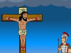 Jezus gekruisigd en begraven, 29 Bijbelplaten voor het digibord, kleuteridee.nl , Bijbelles voor kleuters.
