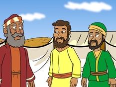Korach, Dathan en Abiram, de staf van Aáron, 21 Bijbelplaten voor het digibord, kleuteridee.nl , Bijbelles voor kleuters