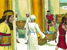 Herbouw van de tempel, 16 Bijbelplaten voor het digibord, kleuteridee.nl , Bijbelles voor kleuters.
