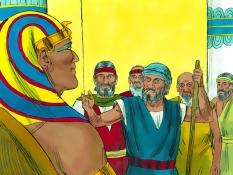 Mozes gaat naar Farao, 14 Bijbelplaten voor het digibord, kleuteridee.nl , Bijbelles voor kleuters.