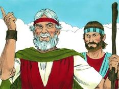 Mozes sterft en Jozua volgt hem op , 20 Bijbelplaten voor het digibord, kleuteridee , Bijbelles voor kleuters