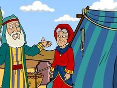 Abraham geroepen en op reis, 14 Bijbelplaten voor het digibord, kleuteridee.nl , Bijbelles voor kleuters.