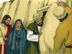 Opstanding van Lazarus, 14 Bijbelplaten voor het digibord, kleuteridee.nl , Bijbelles voor kleuters.
