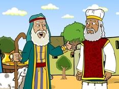 Abraham, Sodom en Melchizedek, 31 Bijbelplaten voor het digibord, kleuteridee.nl , Bijbelles voor kleuters.