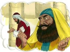 De farizeër en de tollenaar, 6 Bijbelplaten voor het digibord, kleuteridee.nl , Bijbelles voor kleuters.