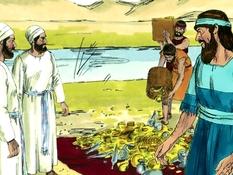 Ezra gaat terug naar Jeruzalem, 19 Bijbelplaten voor het digibord, kleuteridee.nl , Bijbelles voor kleuters.